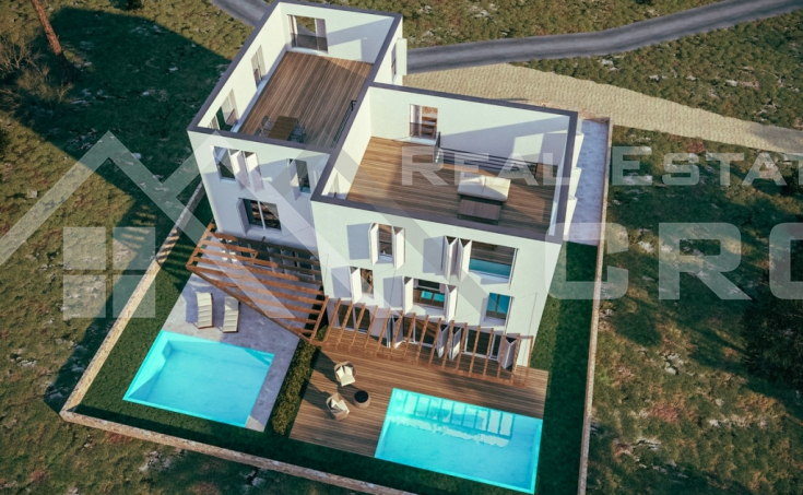 Brand new duplex with a beautiful sea view for sale, Rogoznica