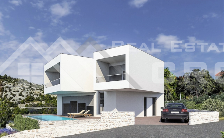 Modern villa in the 2nd row to the sea, for sale, Rogoznica