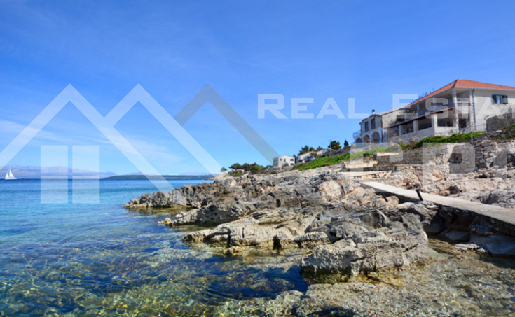 House in the first row to the sea for sale, Solta island