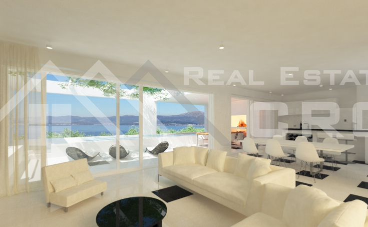 Modern villa under construction, for sale, Sutivan, Brac island (2)