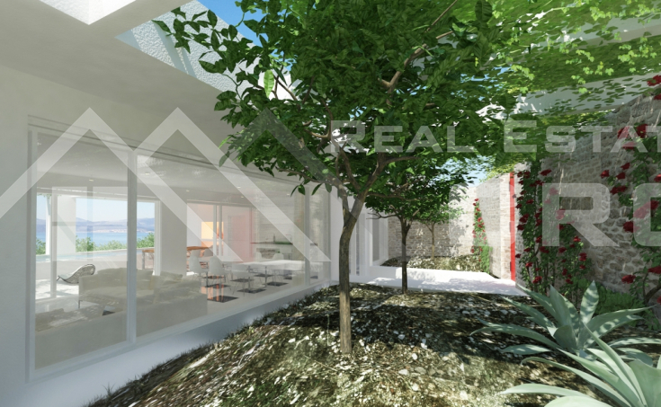Modern villa under construction, for sale, Sutivan, Brac island (4)