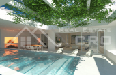 Modern villa under construction, for sale, Sutivan, Brac island (1)