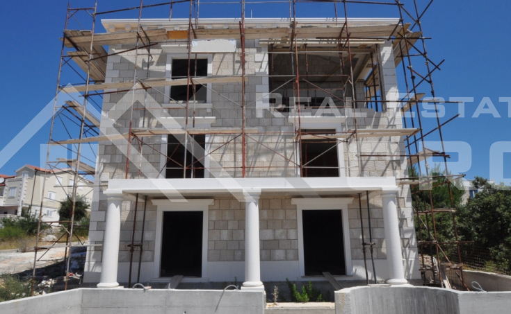 Villa under construction for sale, in lovely location in Rogoznica