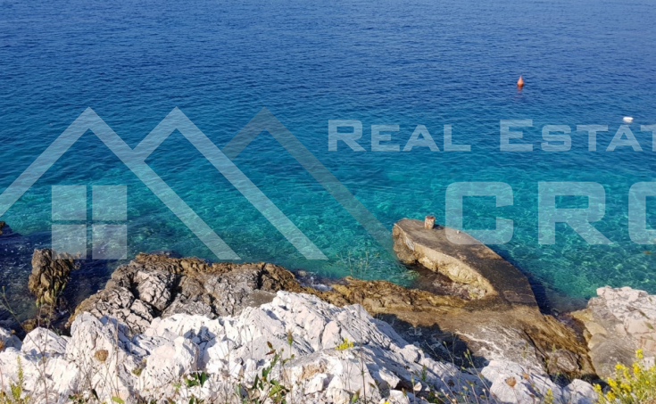 Building plot in the first line to the sea for sale, surroundings of Rogoznica