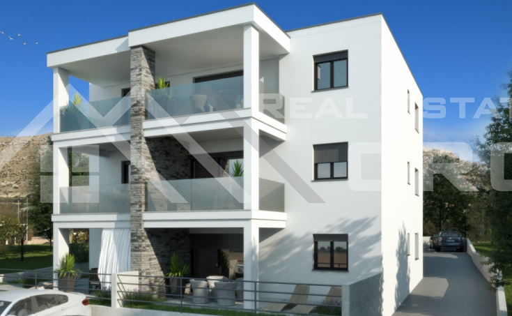 Newly-built apartments in the first row to the sea for sale, vicinity of Primosten (1)