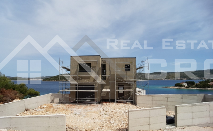 Modern villa under construction with a beautiful sea view, vicinity of Rogoznica