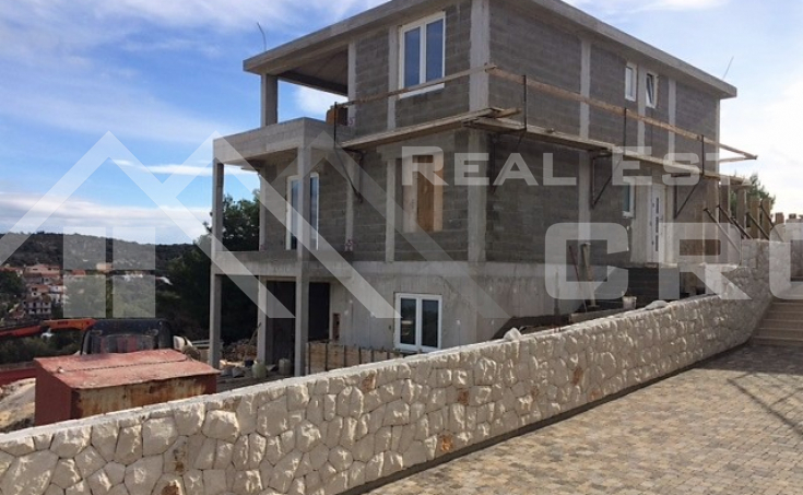 Modern villa under construction in Rogoznica, for sale