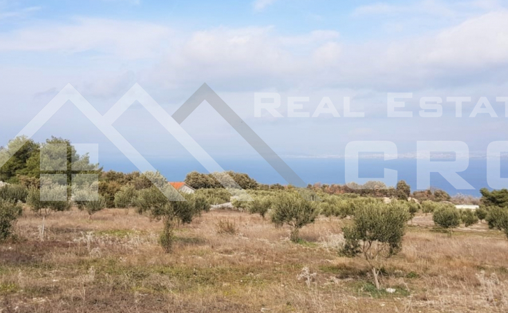 Farmland with a superb sea view for sale, Supetar