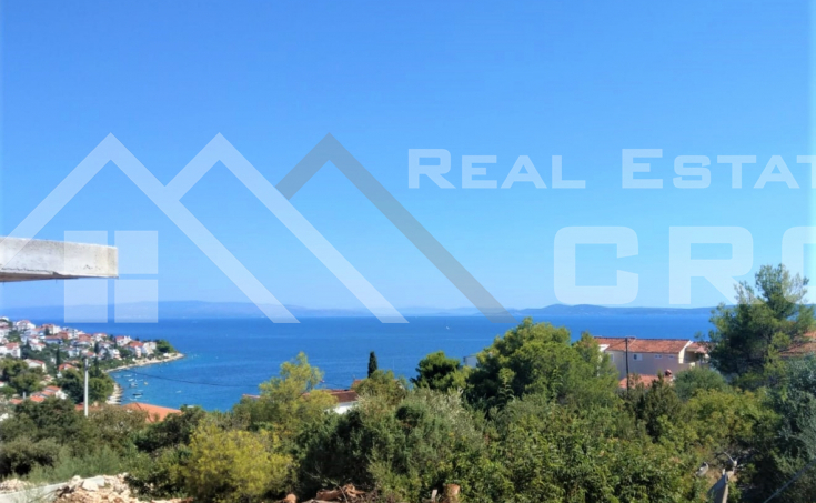 Apartment under construction with garden and beautiful sea view for sale, Ciovo Island, Croatia