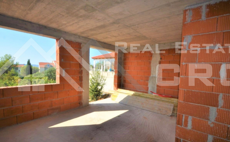 Apartment under construction with garden and beautiful sea view for sale, Ciovo Island