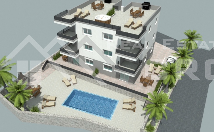 Apartments under construction with beautiful sea view for sale, Ciovo Island (2)