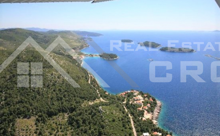 Building land with the project for sale, Korcula Island