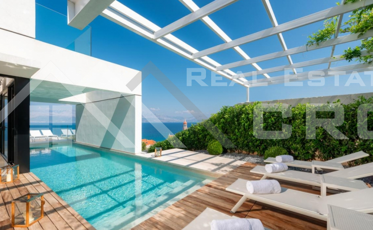 Modern villa with sea view for sale, Brac Island