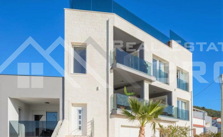 Newly built villa in the first row to the sea for sale, Trogir