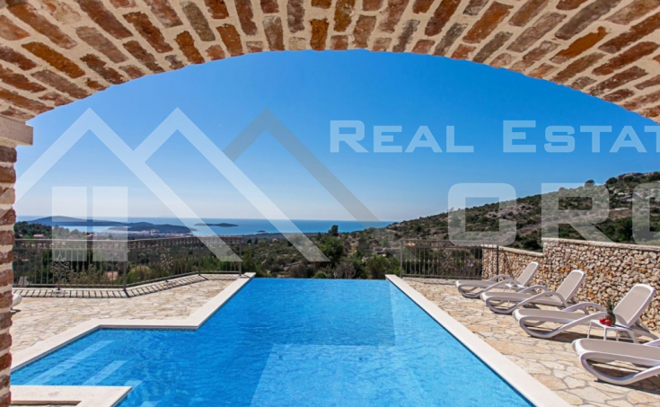 Newly built stone villa with a stunning sea view, Rogoznica (4)