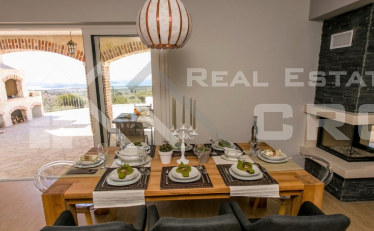 Newly built stone villa with a stunning sea view, Rogoznica (5)