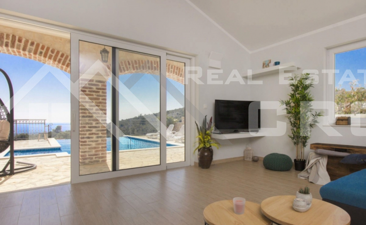 Newly built stone villa with a stunning sea view, Rogoznica (7)