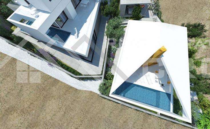Modern villa under construction with extraordinary sea view, Brac Island, Sutivan (4)