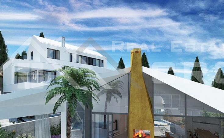Modern villa under construction with extraordinary sea view, Brac Island, Sutivan (5)