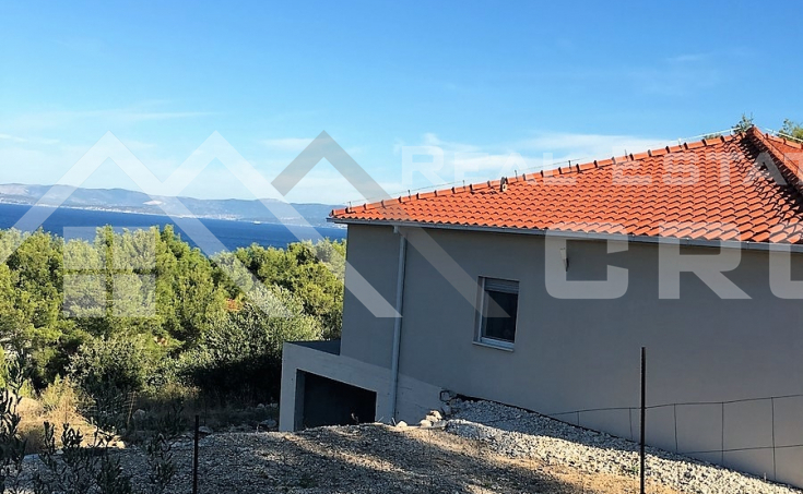 Newly-built house on attractive location in Sutivan, island Brac, for sale