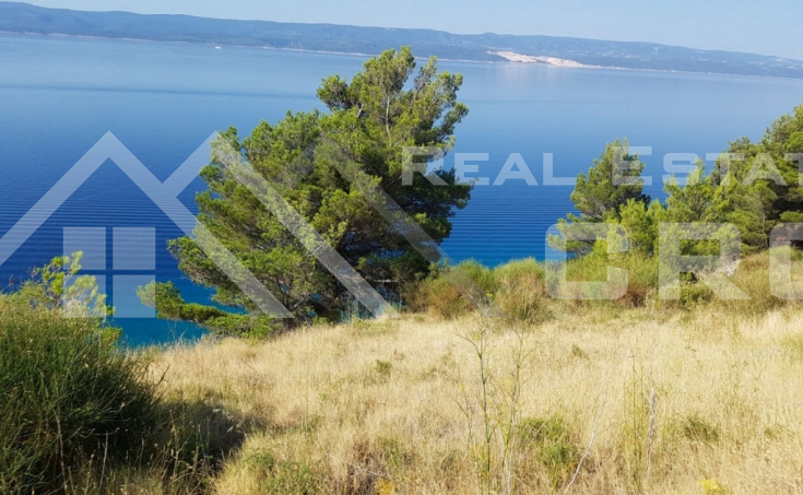Front row building land on Omis riviera, for sale (1)