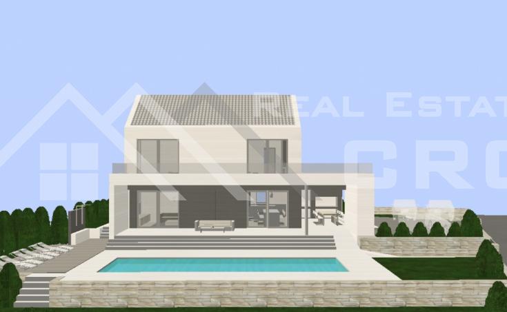 Kuća s bazenom i pogledom na more na prodaju, u blizini Milne, Brač (4)
