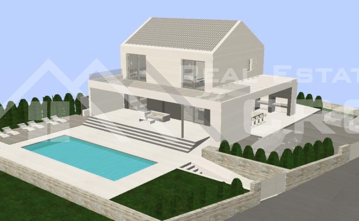 Kuća s bazenom i pogledom na more na prodaju, u blizini Milne, Brač (5)