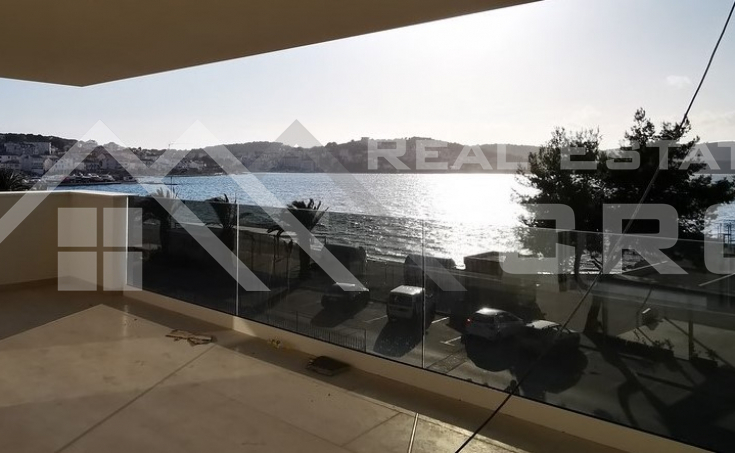 Modern apartment in the first row to the sea with a beautiful sea view for sale, Island Ciovo