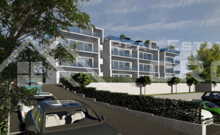 Modern apartments under construction about 100m from the sea, Ciovo south, for sale