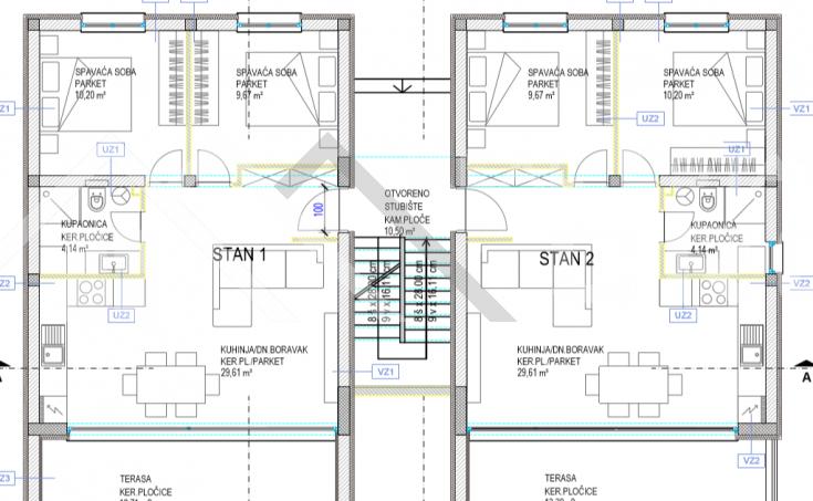 Moderni stanovi u izgradnji udaljeni oko 100m od mora, Čiovo jug, na prodaju (3)