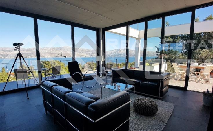 Modern villa with beautiful sea view for sale, Splitska, island Brac (11)