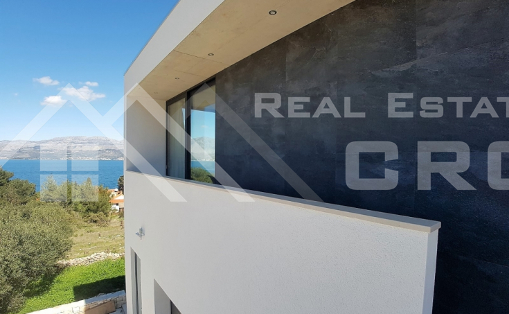 Modern villa with beautiful sea view for sale, Splitska, island Brac (8)