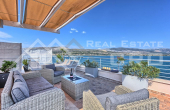CI713, Ciovo properties – Modern villa with swimming pool in the first row to the sea, for sale