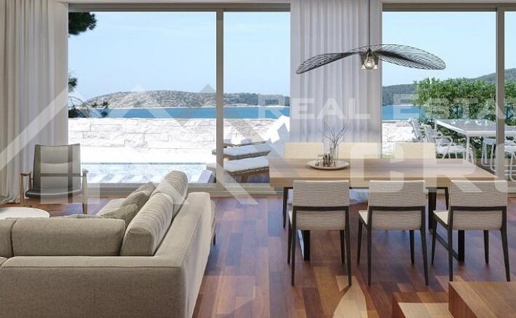 Nekretnine Primošten – Moderna vila u izgradnji s bazenom i pogledom na more, na prodaju