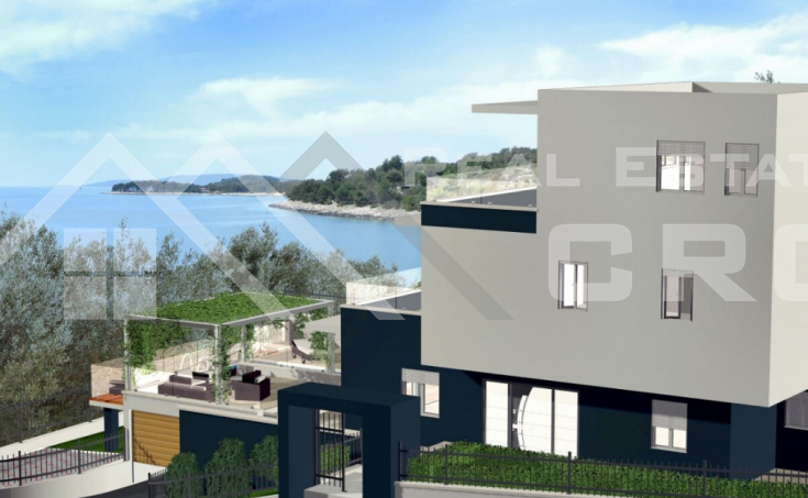 Ciovo properties – Newly built luxurious villa with sea view, for sale