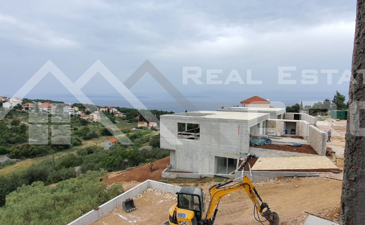 Sutivan Brac properties – Villa with swimming pool under construction, with beautiful sea view, for sale (4)
