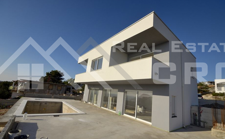 Rogoznica properties – Newly built villa with beautiful sea view, for sale
