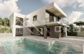 Villa under construction with swimming pool and wonderful sea view (2)