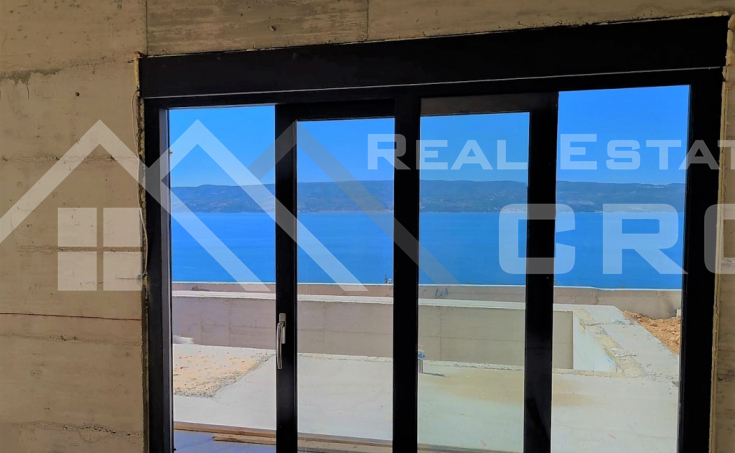 Omis properties - Modern villa with stunning sea view under construction for sale, Omiš Riviera