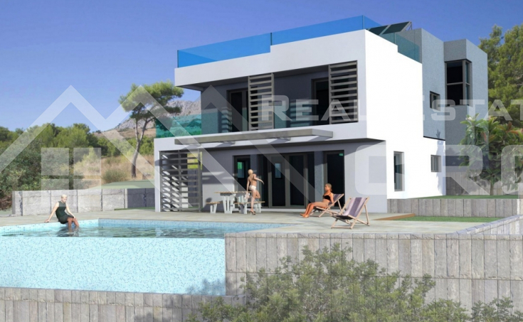 Split properties – Modern villa under construction with beautiful sea view, for sale