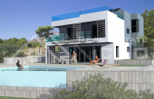Modern villa under construction with beautiful sea view (2)