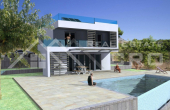 Modern villa under construction with beautiful sea view (3)