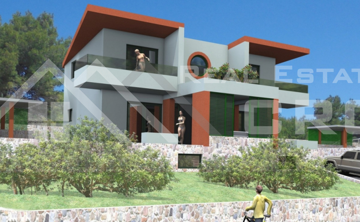 Split properties – Luxury villa with swimming pool, under construction, for sale