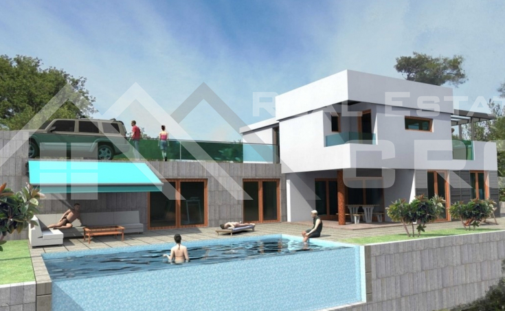 Split properties – Luxurious villa under construction with swimming pool and wonderful sea view, for sale