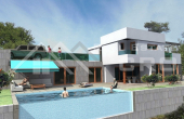 Luxurious villa under construction with swimming pool and wonderful sea view (1)