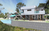Luxurious villa under construction with swimming pool and wonderful sea view (2)