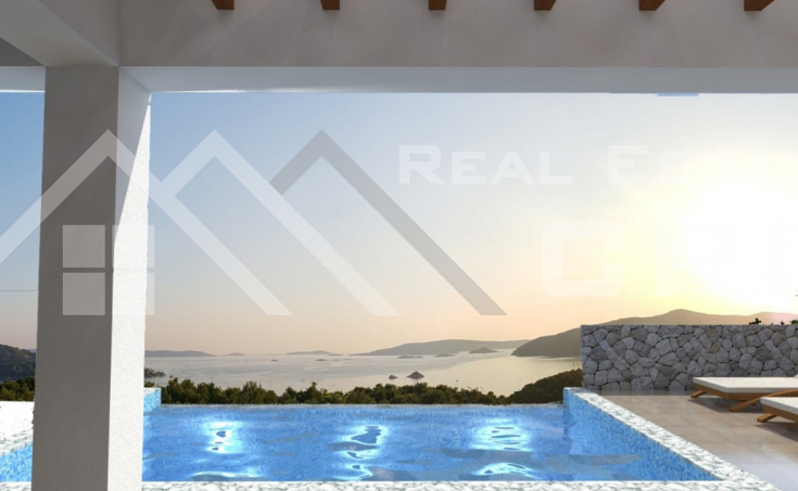 Luxurious villa under construction with beautiful sea view (4)