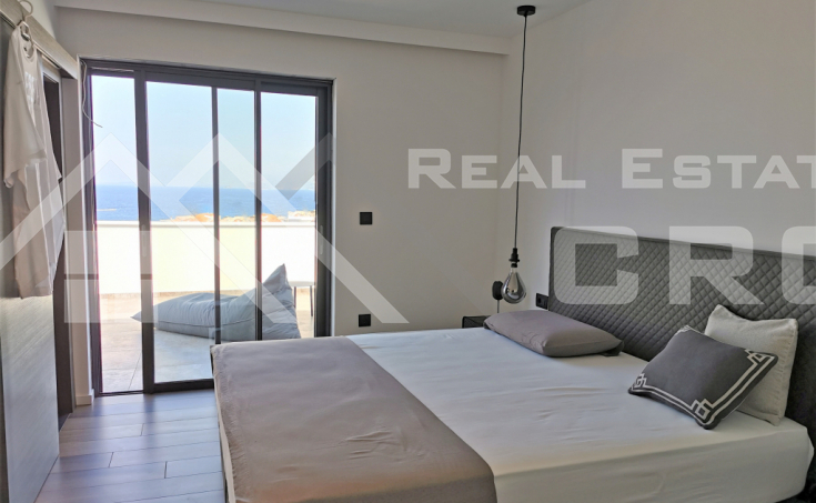 Split properties – Modern newly built villa with swimming pool and panoramic sea view, for sale