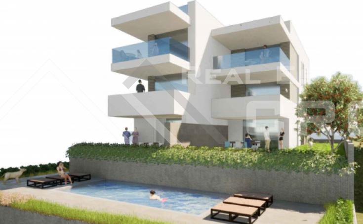 Nekretnine Čiovo - Dvosoban stan s vrtom i pogledom na more u izgradnji, na prodaju, otok Čiovo