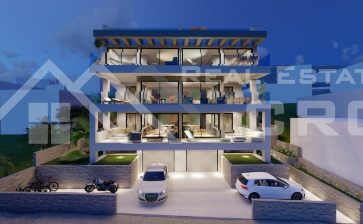 Two apartments under construction with a pool and beautiful sea view,for sale (1)
